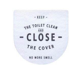 ベストコ トイレのフタに貼る消臭シート ホワイト【代引不可】 送料込!