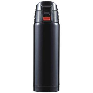 直飲みタイプ マグボトル/水筒 【ブラック】 500ml ステンレス真空断熱構造 ワンプッシュオープン 『ジール』 送料込!