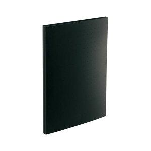 (まとめ) LIHIT LAB 名刺帳 ポケット交換タイプ A4判タテ型・30穴(ヨコ入れタイプ) 300カード 黒 【×5セット】 送料込!