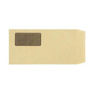 TANOSEE 窓付封筒 裏地紋付 長3テープのり付 70g/m2 クラフト(窓:グラシン紙)業務用パック 1ケース(1000枚) 送料込!