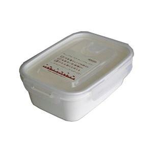 (まとめ) 保存容器/スマートフラップ&ロックス 【900ml L 1P ホワイト】 電子レンジ・冷凍庫可 日本製 【×60個セット】 送料込!