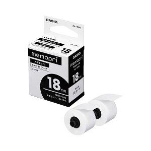 (まとめ) カシオ メモプリンター メモプリ付箋テープ 18mm幅×5m ホワイト XA-18WE 1パック(2個) 【×10セット】 送料込!