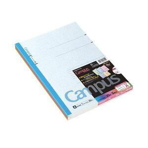 (まとめ) コクヨ キャンパスノート A4 A罫30枚 5色 ノ-203CAX5 1パック(5冊:各色1冊) 【×10セット】 送料無料!