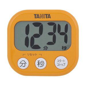 (まとめ)タニタ でか見えタイマーアプリコットオレンジ TD-384OR 1個【×10セット】 送料込!