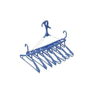 シャツハンガー/洗濯ハンガー 【8連】 フック付き ワイヤー使用 アーチ 〔ベランダ干し 室内干し〕