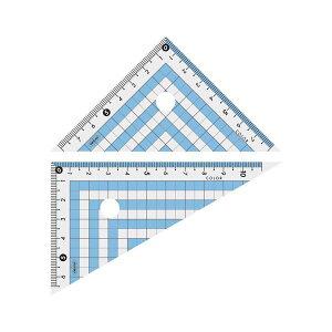 (まとめ) カラー三角定規 CPK-120 ブルー【×20セット】 送料込!
