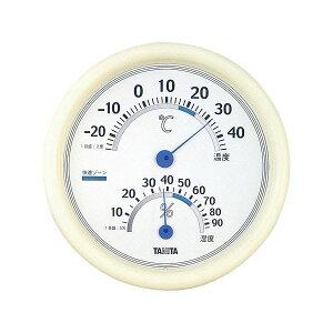 (まとめ) タニタ 温湿度計 TT-513 ホワイト【×5セット】 送料込!