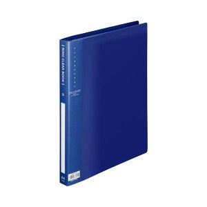 (まとめ) TANOSEE リングクリヤーブック(クリアブック) A4タテ 30穴 10ポケット付属 背幅25mm ブルー 1冊 【×30セット】 送料無料!