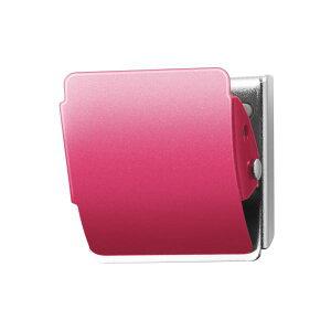 (まとめ)プラス マグネットクリップ CP-040MCR M ピンク【×10セット】