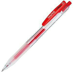 TANOSEE ノック式ゲルインクボールペン(バインダークリップ) 0.5mm 赤(TS-JJ15-R)