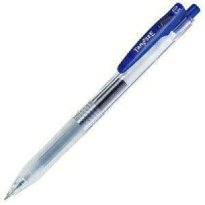 TANOSEE ノック式ゲルインクボールペン(バインダークリップ) 0.5mm 青(TS-JJ15-BL)