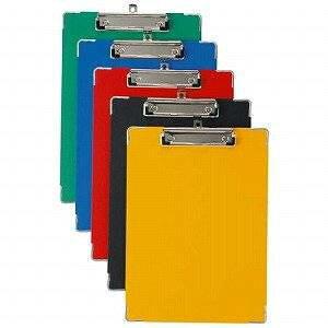 カラーボール用箋挟 カラー紙クロス貼り A4タテ ブルー CS-120C(CS-120C ブル-)