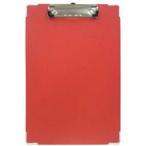 カラーボール用箋挟 カラー紙クロス貼り A4タテ レッド CS-120C(CS-120C レツド)
