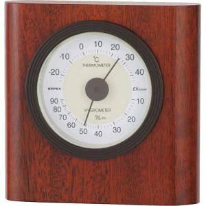 エンペックス気象計 温度湿度計 イートン温湿度計 置き用 日本製 ブラウン TM-646