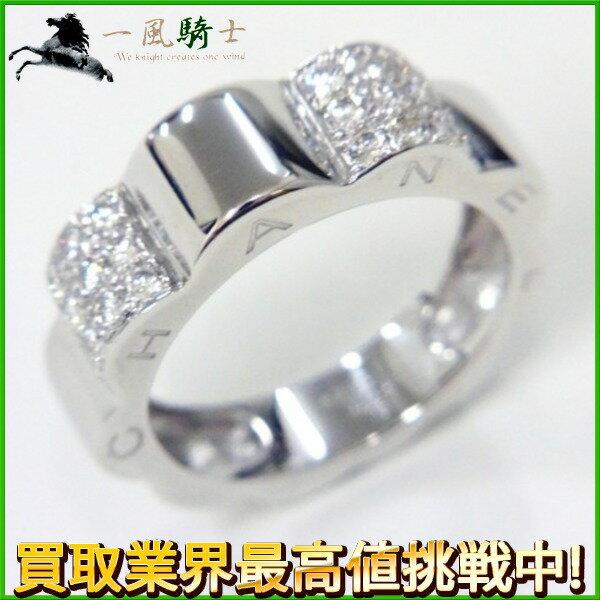 204991【中古】【CHANEL】【シャネル】プロフーィルドゥ カメリア リング J1639 K18WG ダイヤモンド ♯477号 750 ホワイトゴールド 指輪 アクセサリー ブランドジュエリー
