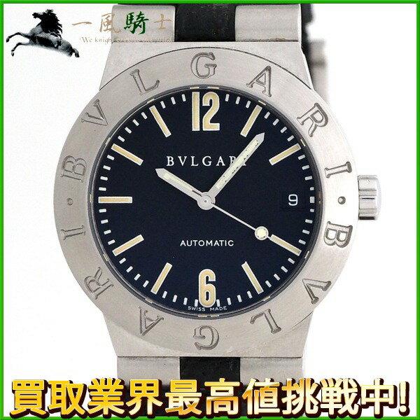 200339【中古】【BVLGARI】【ブルガリ】ディアゴノ スポーツ LC35S 黒文字盤 SS×革