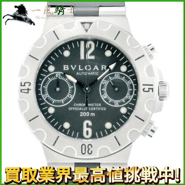 227386【中古】【BVLGARI】【ブルガリ】ディアゴノ スクーバ クロノグラフ SC38S