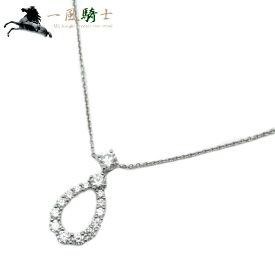 261763【中古】【HARRY WINSTON】【ハリー ウィンストン】ループ バイ ネックレス エクストララージ PT950×ダイヤモンドHW プラチナ ペンダント アクセサリー ブランドジュエリー