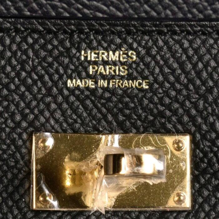 330169【未使用品】【HERMES】【エルメス】ケリーウォレットロングエプソンブラック(黒)ゴールド金具C刻二つ折り長財布2つ折り2018年製造【中古】も多数出品中!