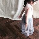 リブナルリラT ピンク ホワイト グレー 女の子 キッズ ノースリーブ 韓国子供服 女の子 90cm 100cm 110cm 120cm 130cm