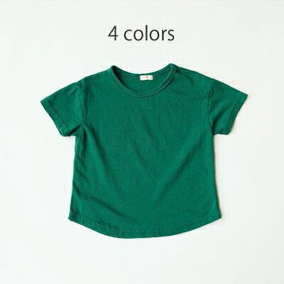 ライT 無地 アイボリー レッド グリーン パープル 半袖 子供服 男の子 女の子 韓国子供服 80cm 90cm 100cm 110cm 120cm 130cm