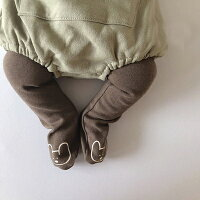 【即納】【予約】エニレギンスブラウンクリーム韓国子供服男の子女の子70cm80cmベビーキッズこどもシンプル出産祝いコットン100%