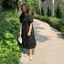 バルーンスリーブワンピ 韓国 韓国ファッション 韓国レディース レディース レディースコーデ ワンピース ワンピ バル…