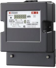 大崎電気工業 A6EA-R100V 60A 50Hz 電子式電力量計 検定付