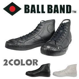 BALL BAND(ボールバンド)42 Jackie レザーハイカットスニーカー