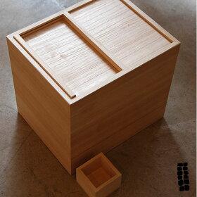 東屋(あずまや)米櫃(米びつ)10kgAZMAYA松田桐箱1合升付きライスストッカー