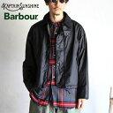 【Kaptain Sunshine × Barbour】 Big Transporter Short Jacket BLACK フィールドショートジャケット ブラックキャプ…