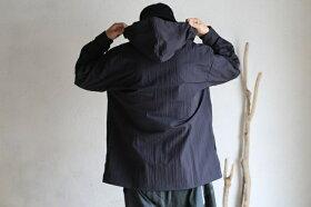 【orslow】HOODEDSHIRTSJACKETBlackWaterRepellent撥水加工オアスロウフーデッドシャツジャケットブラックライトアウター日本製【送料無料】