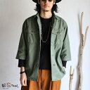 【20%OFFセールSALE】【orslow】 US ARMY 3/4 SLEEVE SHIRTS オリジナルバックサテン生地 オアスロウ ユーズド加工シ…