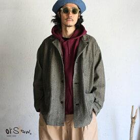 【orslow】LOOSE FIT JACKET(PAJAMA SHIRTS) Gray ルーズフィットジャケット(パジャマシャツ) グレー ヘリンボーンウールオアスロウ Gray Herringbone wool 日本製【送料無料】