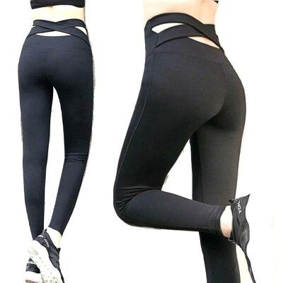 お買い物マラソン46%OFFヨガパンツハイウエストレギンスヨガウェア透けないブラックスポーツレギンスブラック黒ヨガパンツヨガウェアヨガレギンスウォーキングパンツヨガスパッツフィットネスウェアスポーツウェアフィットネスウエア女性用速乾黒
