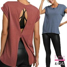 \2点で10%OFFクーポン/フィットネスウェア レディース Tシャツ トップス ジム ウェア 可愛い ヨガウェア トップス シンプル style ヨガウェアトップスウェア ロング丈 大きいサイズ かわいい 半袖 ホットヨガウェア おしゃれ