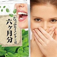 たっぷりミント×α 6か月分 口臭 対策 口臭の治療 防ぐ ケア 口臭チェッカー 予防 チェック サプリ 息が臭い治す方法 口臭の予防 原因 治療【RCP】