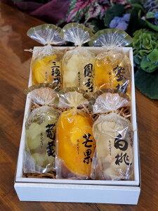お歳暮 お中元 贈答用 引出物 果実ゼリー詰め合わせ 6パック(白桃・ぶどう・パイン・マンゴ・みかん・三種果実)