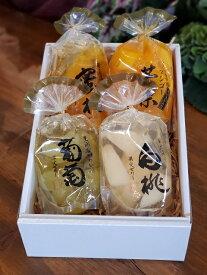 お歳暮 お中元 贈答用 引出物 果実ゼリー詰め合わせ 4パック(白桃・ぶどう・マンゴ・みかん)