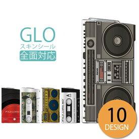 glo シール 送料無料 安い グロー ステッカー 全面 スキンシール オシャレ 保護 フィルム カバー ケース old school テープ ラジカセ boombox hiphop レコードラッパー 90's クラッシック レトロ オシャレ かわいい