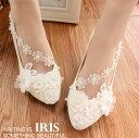 【IRIS】レディースシューズ パンプス ウエディングシューズ 靴 ハイヒール ピンヒール 結婚式 花嫁 バックルベルトの靴 とんがりトウ