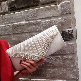 【IRIS】クラッチバッグ ハンドバッグ ショルダーバッグ カバン 鞄 財布 飾り物 パーティー 二次会 ウエディング 結婚式