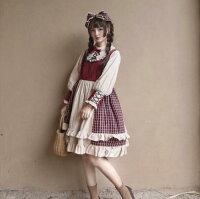 送料無料【IRIS】ロリータワンピースコスプレコスロリハロウイン可愛い姫様2点セット
