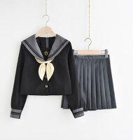 【IRIS】セーラー服2点セット制服コスロリハロウイン女子高生可愛いロリータ長袖