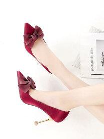 53b6f91797be 送料無料【IRIS】ハイヒール パンプス ピンヒール とんがりトウ 結婚式 靴 花嫁 ウエディング フォーマル