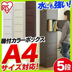 カラーボックスCBボックス扉付き5ドア5段A4サイズ対応CX-55FDアイリスオーヤマ収納ラック本棚おしゃれ在庫限り
