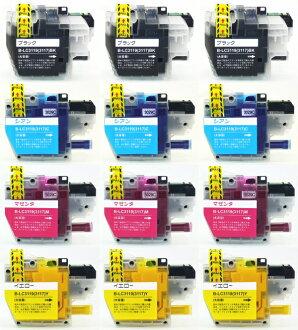 供同兄弟LC3119可以互相交换的四色x3安排=合算的12个安排MFC-J6580CDW MFC-J6580CDW使用的LC3119-4PK代替补偿的