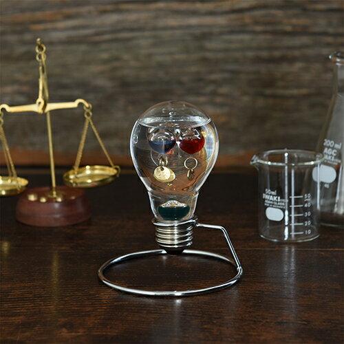 【ガリレオ温度計 サイエンス 科学 ガリレオ】ガラスフロート温度計 電球 ひらめき 333-208【Fun Science】【20P03Dec16】【HLS_DU ギフト】【温度計 インテリア ガラス おしゃれ 浮き球 しずく】