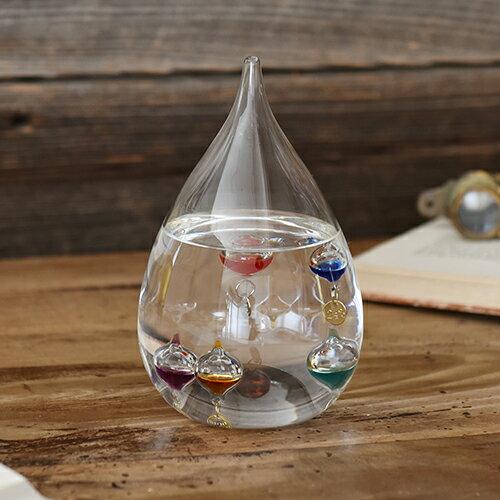 ★楽天ランキング1位★【ガリレオ温度計 サイエンス 科学 ガリレオ】【Fun Science】ガラスフロート温度計 しずくL【20P03Dec16】【HLS_DU ギフト】【温度計 インテリア ガラス おしゃれ 浮き球 しずく】
