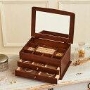 クーポン発行中 ジュエリーボックス 大容量 木製 ジュエルケース 日本製 木製ジュエルケース 宝石箱 アクセサリーボッ…